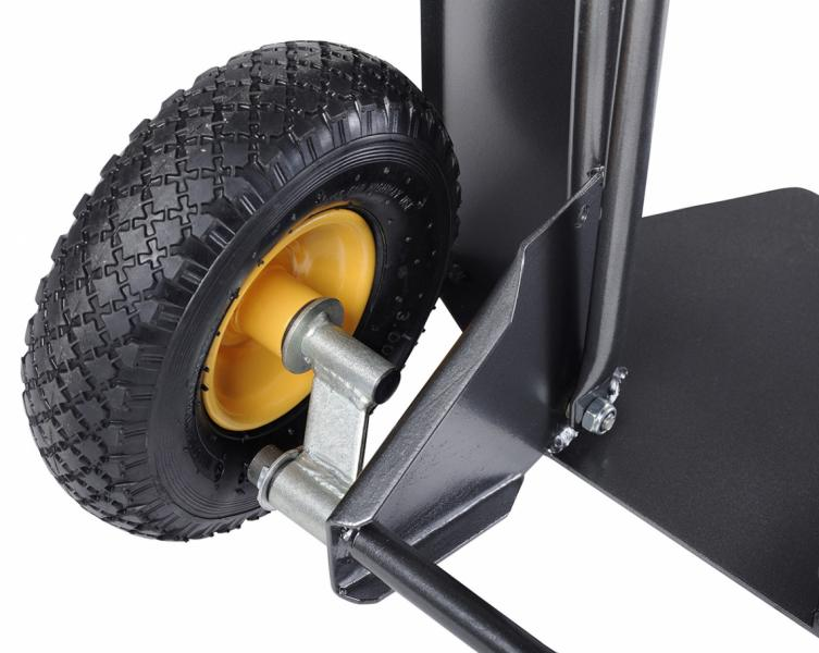 Patented axle design which allows to overcome obstacles and steps